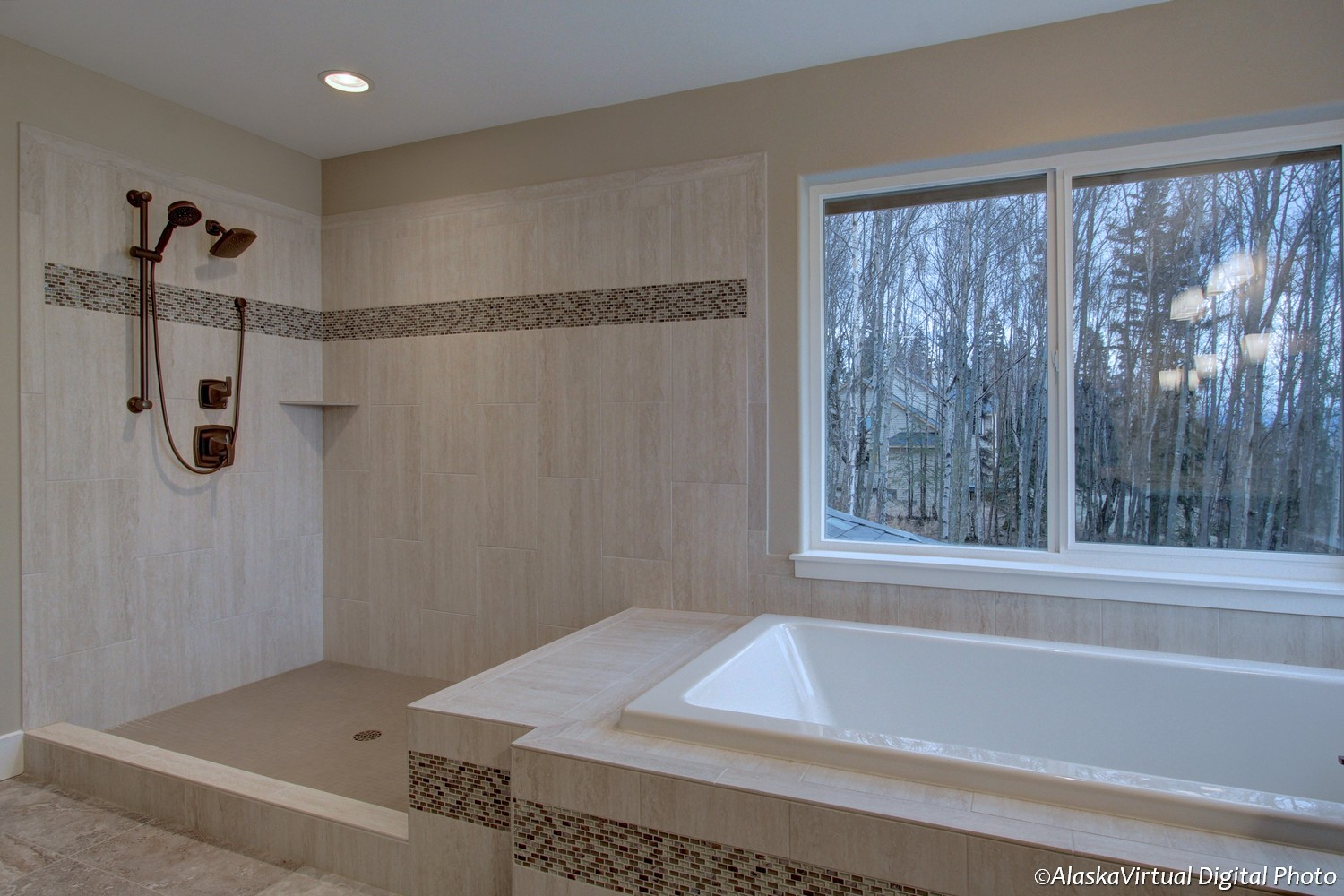 Merlot II master bathroom shower